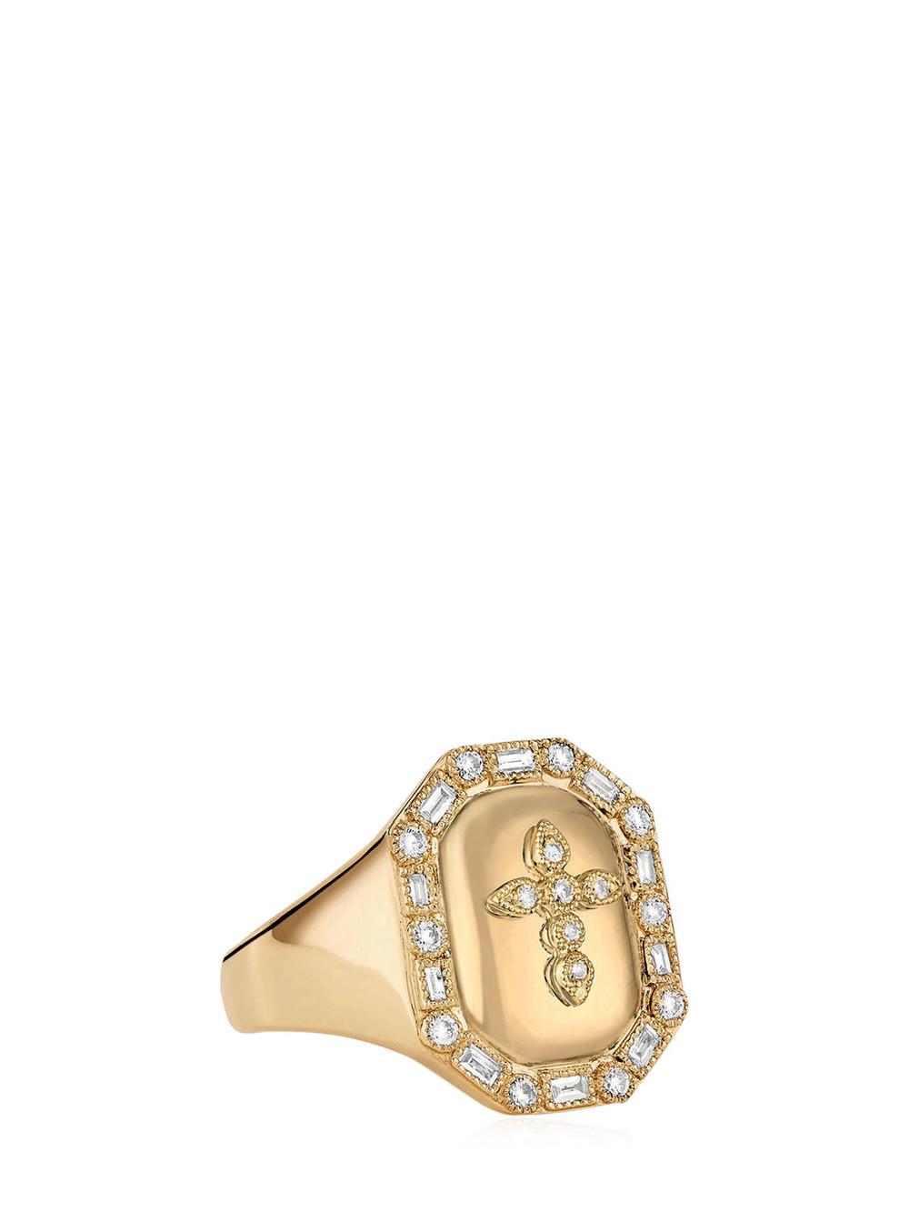 STONE PARIS Céleste Signet Ring in gold