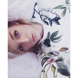 blouse yeah bunny tropica palms sweatshirt tropical palm leaf