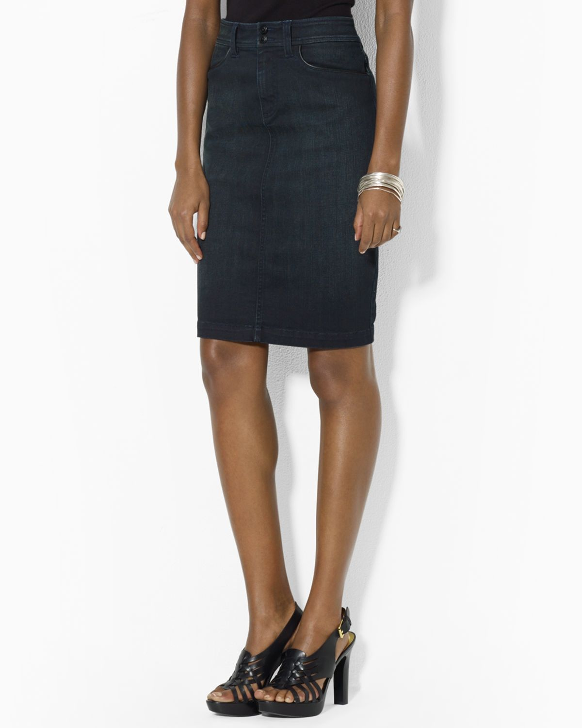 Lauren Ralph Lauren Denim Pencil Skirt | Bloomingdale's
