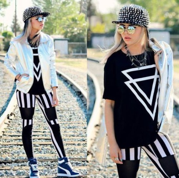 t-shirt triangle triangles trendy cool triangle top 706448 hipster hipster tee hipster tumblr look hipster tumblr swag trend trendy outfit cool girl style cool grunge leggings
