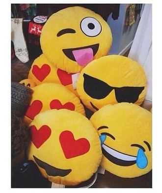 home accessory emoji print pillow cute bedding home decor love cool accessories