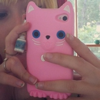 phone cover cute kawaii kitty cat cats iphone case iphone iphone 5 case pink