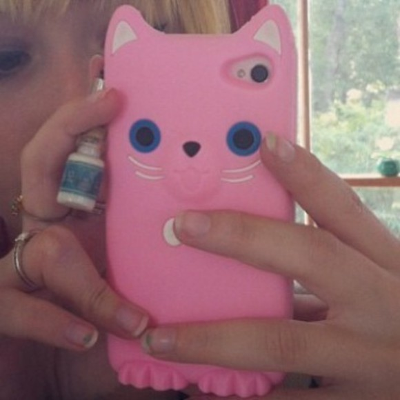 cute pink iphone iphone case iphone 5 case phone case iphone 5 cases kawaii kitty cat kitty cats phone cover