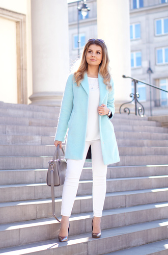 a piece of anna blogger coat blouse pants shoes jewels sunglasses bag