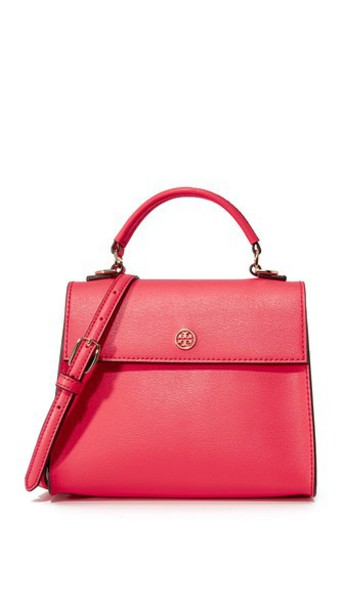 Tory Burch Parker Small Top Handle Satchel in red