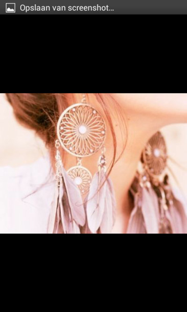 jewels dreamcatcher earrings feathers