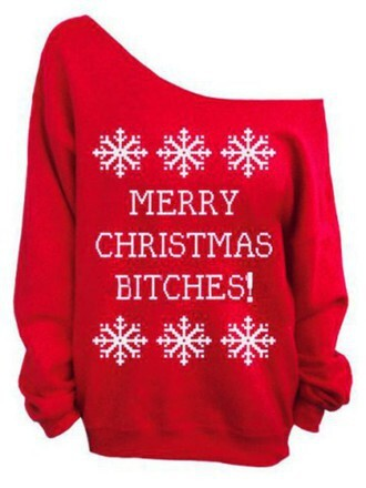 sweater red christmas sweater christmas white