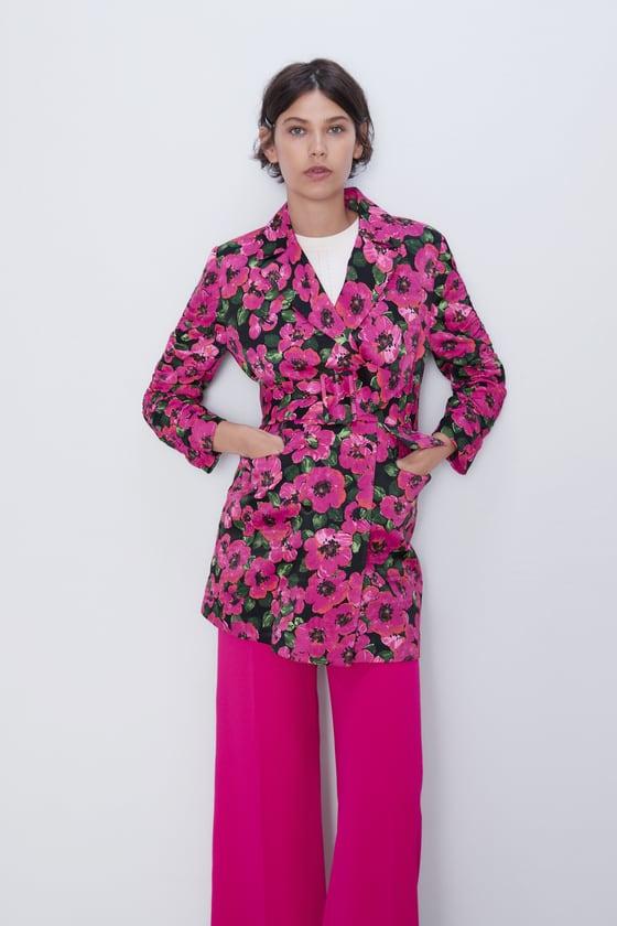 FLORAL PRINT DRESS BLAZER