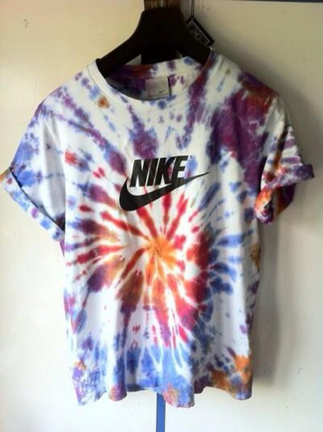 Shirt nike shirt nike cotton tie dye tie dye shirt for Nike tie dye shirt and shorts