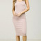 X-back knit v-neck pencil dress