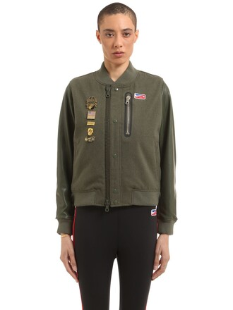 jacket wool green army green
