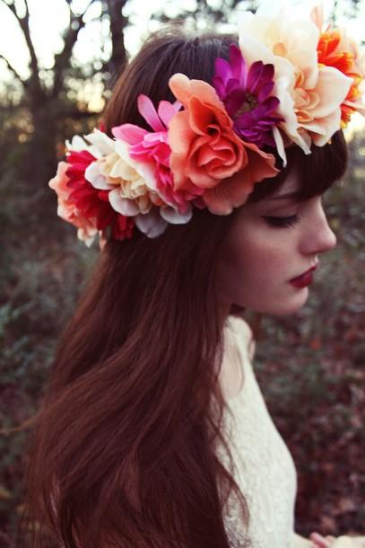 hair accessory flower crown flowers