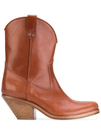 cowboy boots women boots leather brown shoes