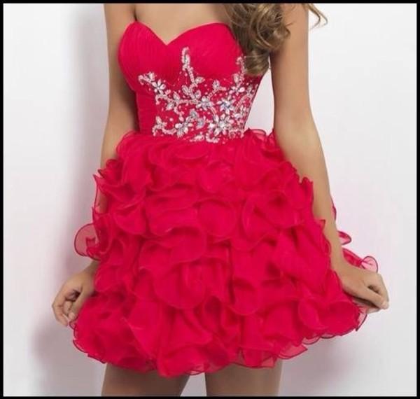 dress red dress glitter dress glitter prom dress t?llrock prom dress