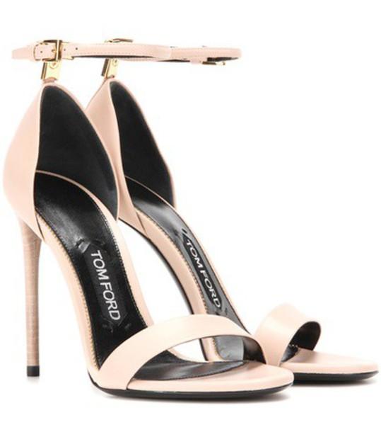 Tom Ford embellished sandals leather sandals leather shoes