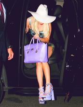 shoes,purple,pastel,cute,white,hat,purse,bag