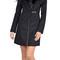 Soia & kyo fei black winter wool coat with fur trim | emprada