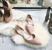 shoes,raye,rose pale,revolve,chic,elegant,work flats,for love and lemons,revolve clothing,flats,ballet flats,blush pink,black flats,pointed toe,chaussures,lace up,lace up sandals,lace up flat,office outfits,nude shoes,strappy flats