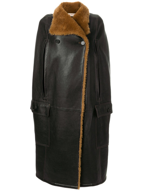 MARNI cape women brown top
