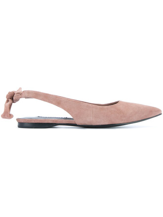 women leather nude suede shoes