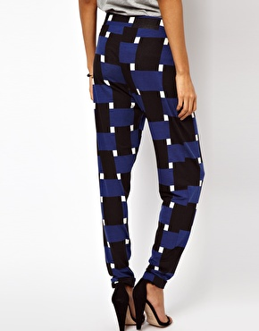 ASOS | ASOS Peg Trousers in Geo Print at ASOS