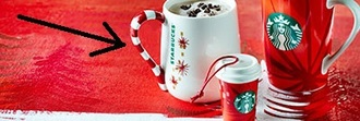 home accessory mug noël christmas starbucks coffee