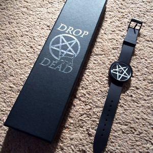 Drop Dead Clothing EVIL WATCH Black Pentagram Satan Death Grunge RARE