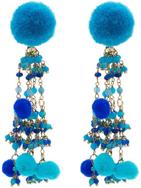 women earrings blue jewels