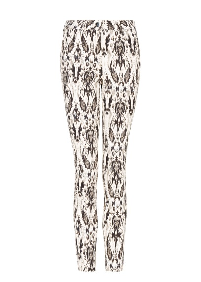 baroque print trousers