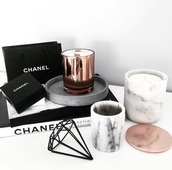 home accessory,diamonds,candle,black,metal,copper,book,chanel,home decor,room accessoires