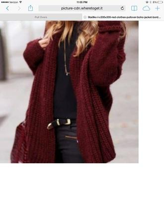 cardigan burgundy sweater knitted cardigan knitwear burgundy maroon/burgundy