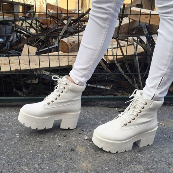 Ankle platform boots