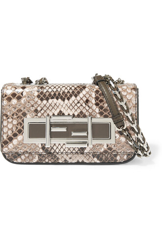 mini python bag shoulder bag snake print snake print neutral
