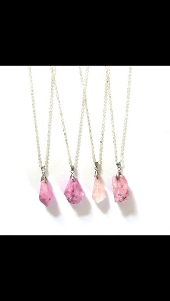 jewels rose boho pink jewelry raw stone