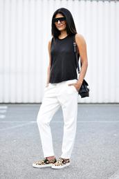 fashion landscape,sunglasses,pants,t-shirt,bag
