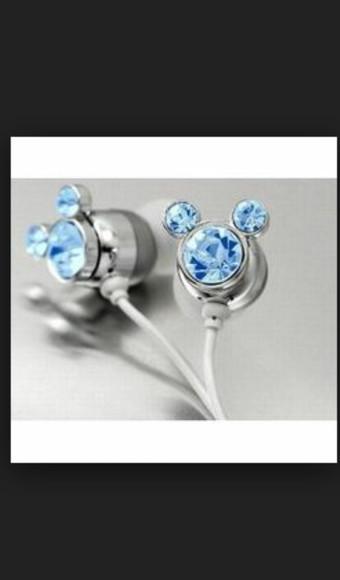 diamonds earphones technology mickey mouse
