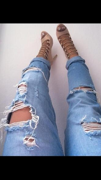 high heels tan heels strappy heels jeans