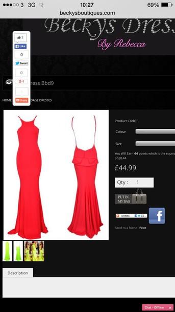 dress red maxi dress