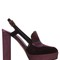 130mm velvet & suede slingback pumps