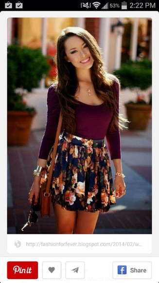 high waist high waisted skirt maroon fall high waist skirt girly floral peach