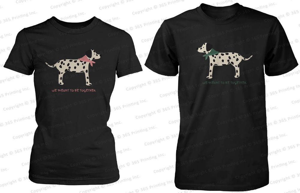 His and Her Matching Couple Shirts Cute Dalmatian Dog Prints | eBay