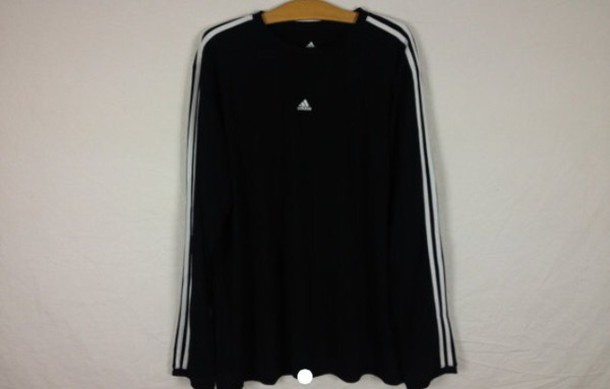sweater black vintage adidas
