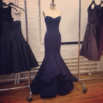 dress navy dress prom dress tumblr dress hair accessory black black dress prom long long dress long prom dress fishtail dress mermaid prom dress