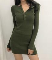 dress,girly,girly wishlist,green,bodycon dress,bodycon,knit