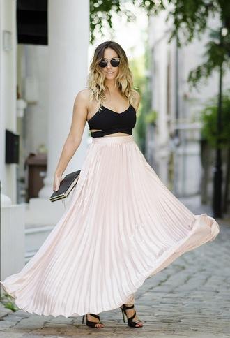let's talk about fashion ! blogger bag shoes sunglasses skirt top