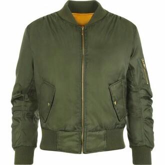 jacket padded bomber jacket green army green jacket