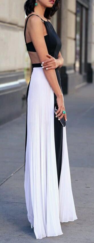 dress maxi dress black and white dress black dress white dress