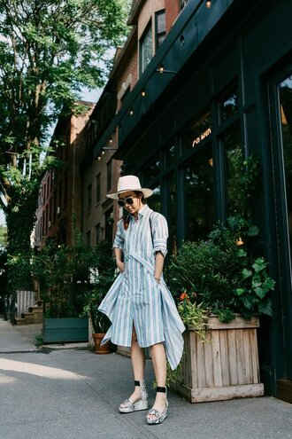 shoes dress stripes hat tumblr sandals wedge sandals striped dress shirt dress sun hat