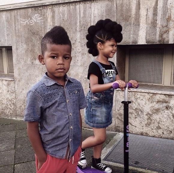denim denim dress guys girs kids fashion denim skirt mohawk natural hair modern family Denim Shirt