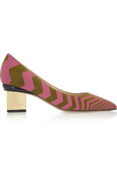 Nicholas Kirkwood | Suede and leather pumps  | NET-A-PORTER.COM